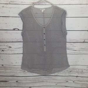 Banana republic sheer gray blouse